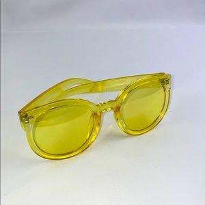 Oversized yellow tint frames